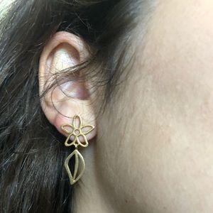 Tous Leaf & Flower 18KT yellow gold Earrings